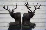 White Tail and Mule Deer Bookends